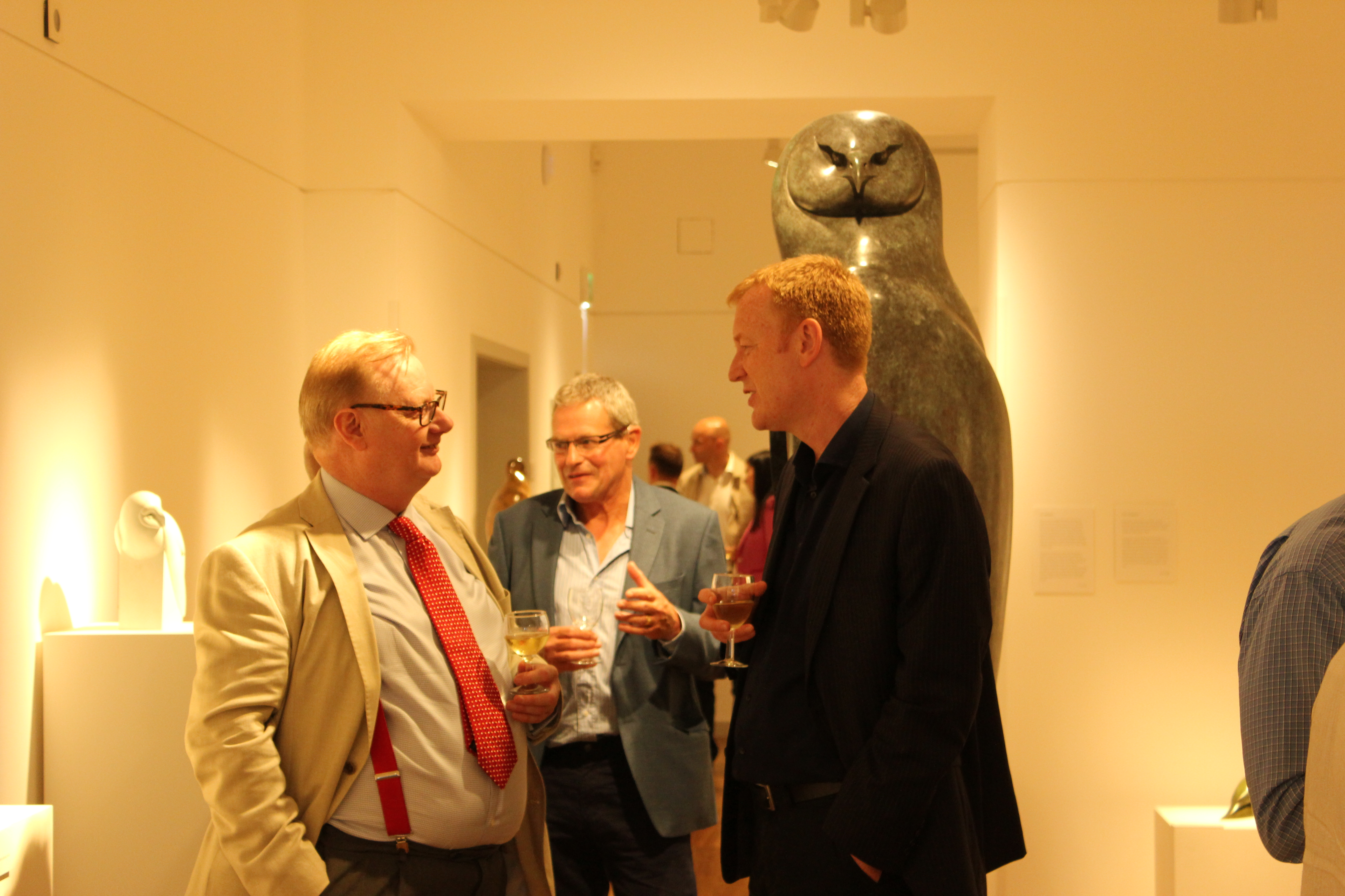 Patrons at private view
