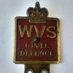 Metal plaque that reads civil defence